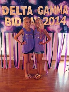 Delta gamma ohio university 2014 bid day for infinity and beyond #galaxybidday #galaxy