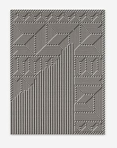 Tauba Auerbach - Shadow Weave - Chiral Fret Wave Tauba Auerbach, Weave, Hand Weaving, It Works, Design, Hand Knitting, Hair Lengthening, Nailed It