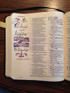 Proverbs 8,9 & Colossians 2:3 Jesus is wisdom!