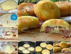 Φανταστική ζύμη πατάτας γεμισμένη με αλλαντικά και τυριά!!!Υπέροχη ιδέα και πεντανοστιμη! Βγαίνουνσαν αφράταφουσκωτάζαμπονοπιτακια!!!Την υπέροχη συνταγή αυτή την είδαμε στο καταπληκτικό site μαγειρικηςblog.giallozafferano.itΕκεί ακόμη θα δείτε υπέροχες ιδέες για πεντανόστιμα πιατα!!! Συστατικά: 200 γραμμάρια πατάτες ήδη βρασμένες και αλεσμένες 100