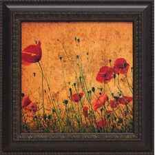 Field of Poppies Framed Painting Print