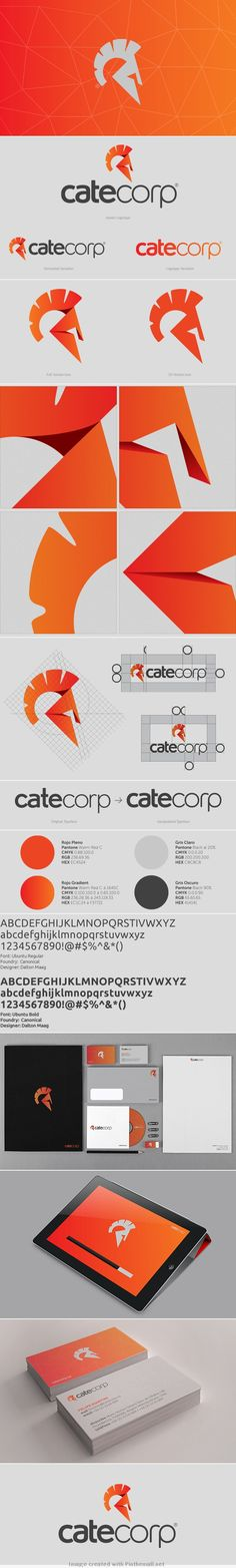 Cate Corp - Logotype & Stationery Design by Chris Bernay