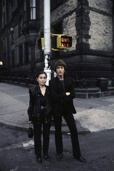 John Lennon and Yoko Ono.  A George Vreeland Hill post.