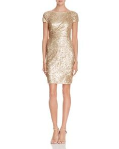 Adrianna Papell Sequin Dress   Bloomingdale's