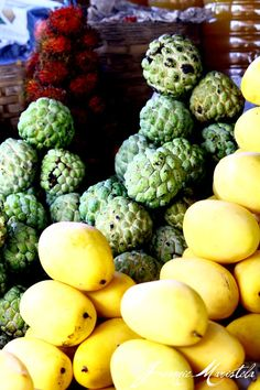 Fruits of India that's why my Nan loved custard apples and all fruit as she grew up in Madras India.