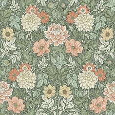 Coloured in a rich and vibrant palette, our Dahlia Garden wallpaper is the perfect pick for elegant interiors. Browse for wallpaper inspiration – order samples with a click! Garden Wallpaper, Of Wallpaper, Pattern Wallpaper, Interior Wallpaper, Easy Up, Molduras Vintage, Vintage Floral Wallpapers, Morris Wallpapers, Backgrounds