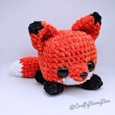 Ravelry: Cube Foxy Fox pattern by Crafty Bunny Bun Crochet Kawaii, Crochet Diy, Crochet Patterns Amigurumi, Crochet Crafts, Yarn Crafts, Crochet Projects, Crochet Fox Pattern Free, Crochet Animal Patterns, Stuffed Animal Patterns