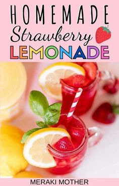 Try out the ultimate DIY summer recipe: homemade lemonade! Follow ours for a strawberry twist! #lemonaderecipe #homemaderecipes #summerrecipes #recipe #drinks