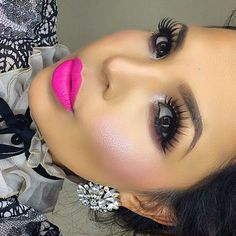 44 Beautiful Pink Lipstick Makeup Ideas For Spring And Summer Pink Lips Makeup, Sexy Makeup, Gorgeous Makeup, Love Makeup, Beauty Makeup, Makeup Looks, Hair Makeup, Hair Beauty, Makeup Trends