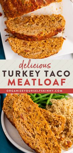 Looking for a healthy weeknight dinner recipe the whole family will love? I took all the flavors of tacos and wrapped them into a juicy scrumptious meatloaf. It's beyond delicious! It can be enjoyed it with a salad but you can certainly serve it with rice and beans or even some nachos. Organize Yourself Skinny Healthy Meal Prep Recipes   Healthy Family Dinner Recipes   Weight Loss Recipes Healthy Freezer Meals, Healthy Meals For Two, Easy Healthy Dinners, Healthy Meal Prep, Healthy Foods To Eat, Healthy Dinner Recipes, Healthy Eating, Skinny Recipes, Clean Dinner Recipes