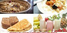 Receitas de lanches e refeições pré e pós-treino
