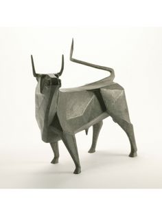 Standing Bull II by Terence Coventry, bronze