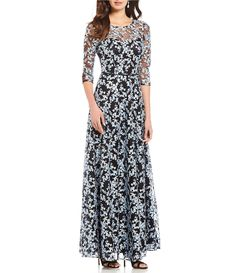 Tahari Asl Embroidered Fit Flare Dress Dillard S Fit Flare Dress Casual Cocktail Dress Mother Of The Bride Dresses
