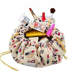 d5734478d0 Adigow Portable Drawstring Makeup Bag Large Capacity Lazy Cosmetic  Organizer Pouch Magic Travel Toiletry Bags For Womens