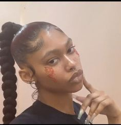 Hair Ponytail Styles, Weave Ponytail Hairstyles, Black Girl Braided Hairstyles, Baddie Hairstyles, Braided Ponytail, Curly Hair Styles, Natural Hair Styles, Hairstyle Short, School Hairstyles