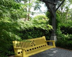 Wood Arbor and Bench Swings - traditional - landscape - other metro - by The Collins Group/JDP Design