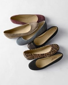 On trend and en pointe, our favorite flat is back in an array of shades worth falling for, from leopard spots to color-block. The simple silhouette features a rounded toe and scooped sides in suede or leather meticulously handcrafted in Italy. Padded footbedMan-made sole; ribbed heelSuede or leatherDue to the nature of the dyeing process, unique color variations will occurHandcrafted in Italy