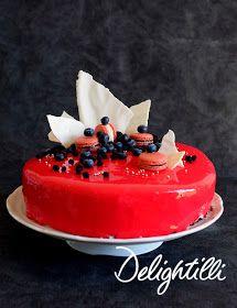 Delightilli: Domáca zrkadlová poleva Mousse, Cheesecake, Birthday Cake, Gluten Free, Baking, Food, Glutenfree, Cheesecakes, Birthday Cakes