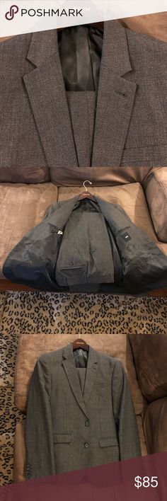 ASOS Charcoal Grey Glenn Plaid Slim Fit Suit 38R ASOS Charcoal Grey Glenn Plaid Slim Fit Suit size 38R Regular, 2 Button and single vented! Pants are size 30x32, Flat Front and plain bottom! Great condition! Please make reasonable offers and bundle! Ask questions! ASOS Suits & Blazers Suits