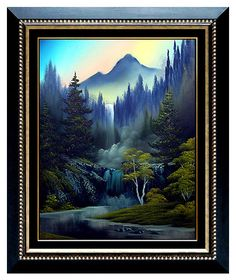 Owning a Bob Ross original is one of my life goals. This one would be glorious (although I'd prefer a more traditional snow covered mountain with a cabin that you were just sure was going to RUIN THE WHOLE THING right up to the end of the episode. Bob Ross Paintings, Paintings I Love, Beautiful Paintings, Original Paintings, Pinturas Bob Ross, Bob Ross Art, The Joy Of Painting, Landscape Paintings, Landscapes