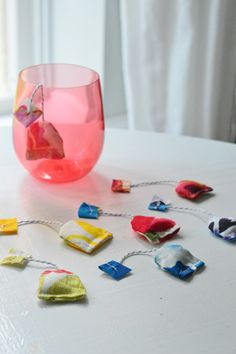 Make fabric tea bags for tea parties with your little one.