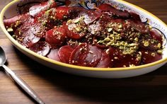 Look at this recipe - Roasted Beet Salad - from Debi Mazar and Gabriele Corcos and other tasty dishes on Food Network. Healthy Side Dishes, Side Dish Recipes, Easy Healthy Recipes, Tasty Dishes, Food Dishes, Dinner Recipes, Healthy Salads, Healthy Eats, Simple Salads