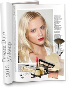 """Dream Date Makeup"" by greta-martin ❤ liked on Polyvore"