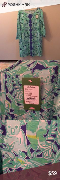 NWT Lilly Pulitzer Marlowe Dress Lilly Pulitzer Marlowe Dress in Koala of the Wild Lilly Pulitzer Dresses