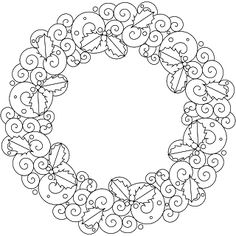 Don't Eat the Paste: Swirly Wreath to Color