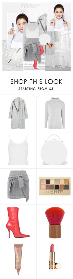 """Favorite for fall"" by rainie-minnie ❤ liked on Polyvore featuring Oris, Universal, Topshop, Nico Giani, Nasty Gal, Maybelline, Balenciaga and tarte"