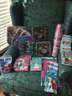 83b61d520ab NEW Disney Frozen Birthday Party girls lot- Over 260 items!! cake toppers  too
