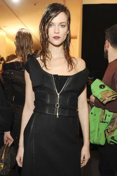 Kasia Struss in 20 make-up looks: Backstage at Prada Fall/Winter 2013-2014