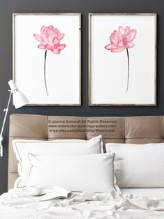 Lotus Baby Pink Flower Set 2 Girls Nursery Room Decor Abstract Flowers Watercolor Painting Wall Decor, Floral Meditation Art Print Gift Idea by ColorWatercolor on Etsy https://www.etsy.com/listing/274973306/lotus-baby-pink-flower-set-2-girls