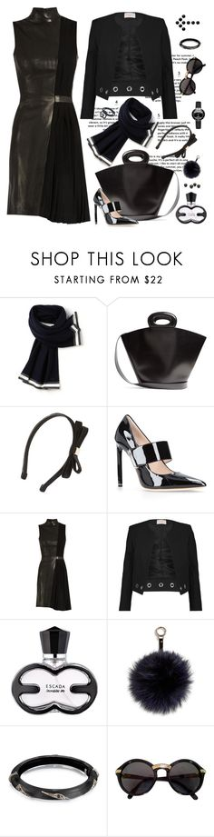 """All Black Everything"" by ysmn-pan ❤ liked on Polyvore featuring Lacoste, Lemaire, Tasha, Ralph & Russo, Thierry Mugler, Sandro, Adrienne Landau, Alexis Bittar, Cartier and Fendi"