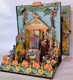 Graphic 45 Artisan style photo album 3D cover by Anne Rostad annes papercreations