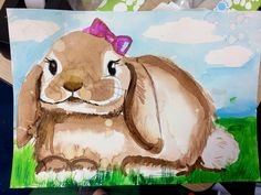 smART Class: BunBun One Day Watercolor Value Excercise