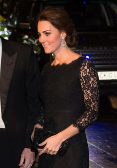 November 2014 - Pregnant Kate Middleton Makes a Stunning Appearance With William
