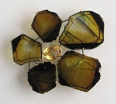 Bettina Speckner,  Brooch 2011 Tourmalines, Beryll, Gold, Silv
