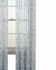 MarthaWindow™ Mum Blossoms Cotton Rod-Pocket Curtain Panel - JCPenney