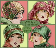 PDF Crochet 4 SWEET 1920s Vintage Cloche Hat by eVINTAGEpatterns, $3.99