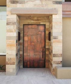 Gorgeous Copper Clad Door