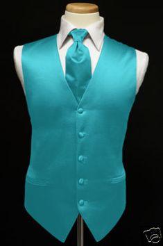 Vest & Ties for Quinceañera chambelanes - Turquoise & Teals Aqua Wedding, Summer Wedding Colors, Peacock Wedding, Wedding Suits, Wedding Attire, Trendy Wedding, Wedding Ideas, Wedding Tuxedos, Wedding Turquoise