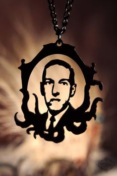 hp lovecraft necklace.  amazing.    etsy shop: FableAndFury