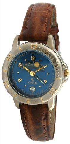 b37e7472753 Blue Dial Leather Moon Sport Watch Best Work Shoes