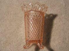 Pink depression glass Miss America Footed vase Anchor Hocking Glass Co Vaseline Glass, Treasure Hunting, Pink Depression Glass, Miss America, Glass Dishes, Vintage Glassware, Vintage Pink, True Love, I Shop