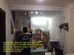 Lắp đặt màn nhựa PVC, vách ngăn màn nhựa PVC, Meci.vn chuyên lắp đặt và sản xuất màn nhựa PVC