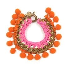 Matthew Williamson Pom Pom Chain Bracelet