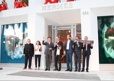 The official opening of the new Beverly Hills Hermès on Rodeo Drive.