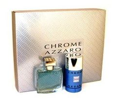 """Loris Azzaro Chrome By Loris Azzaro For Men. Gift Set ( Eau De Toilette Spray 1.7-Ounces + Deodorant Stick 2.7-Ounces) by Azzaro. $46.00. This item is not for sale in Catalina Island. Packaging for this product may vary from that shown in the image above. """"Created By Louis Azzaro As His Signature Fragrance, It Is Reminiscent Of Moist Grass Fields And Fruit Trees. Notes Include Ylang-ylang, Jasmine And Orris Topped With Fruits, Aldehydes And Gardenias. Keeps Your Fa..."""