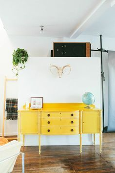 Image result for yellow painted dresser